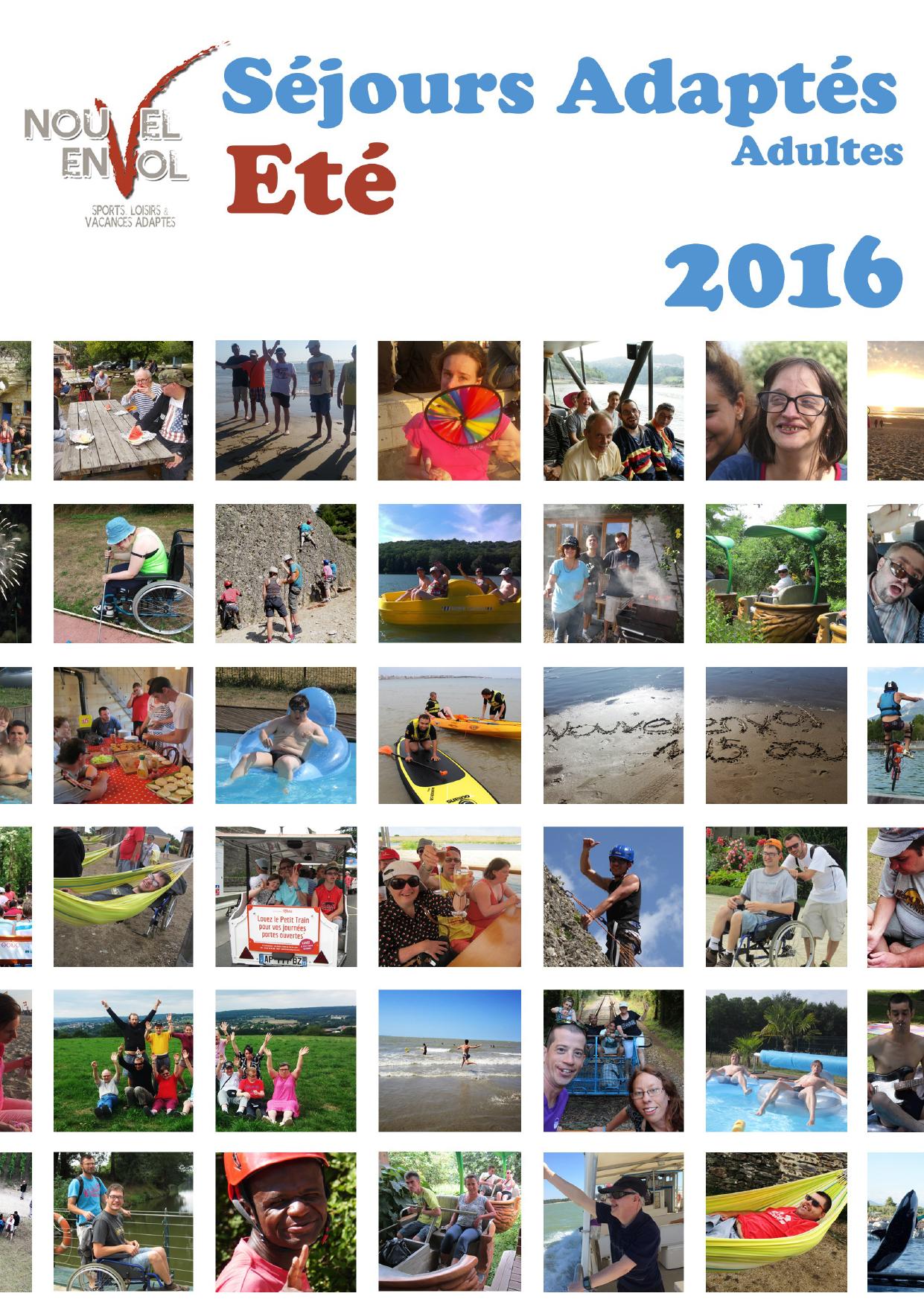 Brochure séjours été 2016